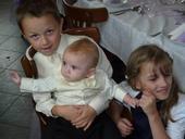 NOVINKA - oblek pro miminko k prodeji, ivory, čern, 110