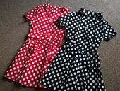 RETRO puntíkaté šaty, ihned k odeslání, 2x, 38