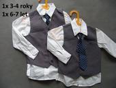 Šedý chlapecký oblek k zapůjčení, 3-4 a 6-7 let, 104