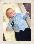 NOVINKA - oblek pro miminko, světle modrý, 68