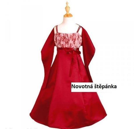 Vínové šaty pro družičku, 8-12 let - Obrázek č. 1