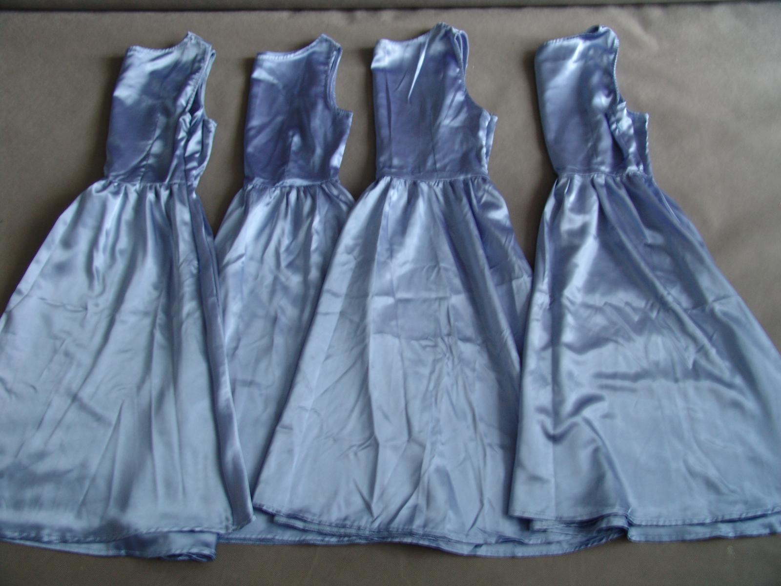 Modré společenské šaty, S-L - Obrázek č. 1