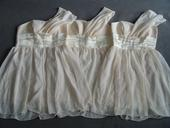 Ivory, krémové šaty, 38