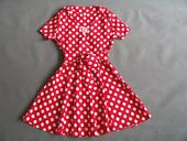 Červené puntíkaté retro šaty, 36