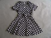 Černé puntíkaté retro šaty, 36