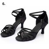 Černé taneční sandálky, 34-40, 37