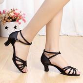 Černé taneční střevíčky, sandálky, 38,39,40, 39