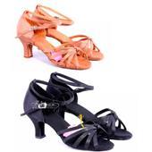 Tělové nebo černé taneční sandálky, 35-40, 39