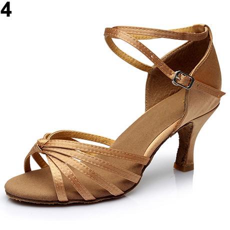 Černo-zlaté společenské taneční sandálky, 35-41 - Obrázek č. 3