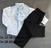 Půjčím/k prodeji světle modrý oblek 12-24 měsíců, 98