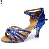 Modré taneční, plesové sandálky, 35-41, 37