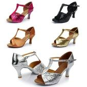 Černé taneční sandálky, 36-39, 36