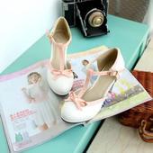 Retro bílo-růžové boty , 38
