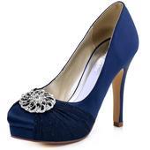 Elegantní tmavě modré lodičky, 23-26cm, 38