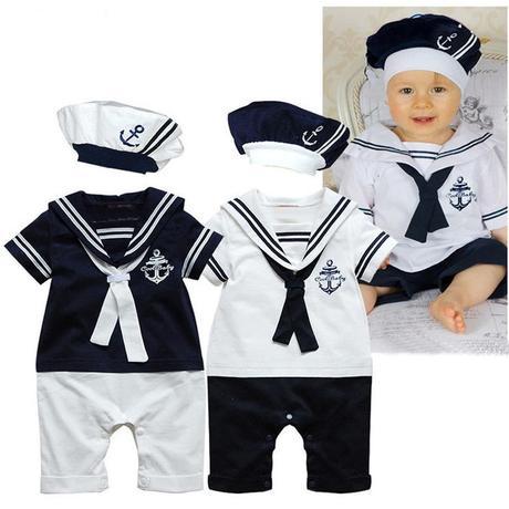 Tmavě modrý námořnický obleček - Obrázek č. 1