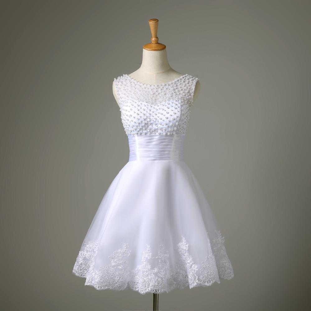 Krátké svatební šaty, popůlnočky - Obrázek č. 1