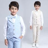 Světle modrý dětský oblek, 3-10 let, 140