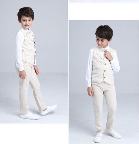 Béžový oblek, 3-10 let, k půjčení, k prodeji - Obrázek č. 4