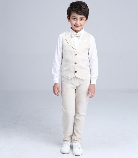 Béžový oblek, 3-10 let, k půjčení, k prodeji - Obrázek č. 1
