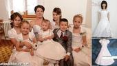 Bílé šaty s bolerkem - půjčovné, 110