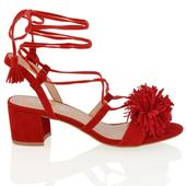 FAYE, červené společenské sandálky, 36-41, 37
