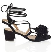 FAYE, černé společenské sandálky, 36-41, 36