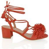 FAYE, oranžové společenské sandálky, 36-41, 37