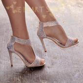 Champagne svatební, společenské sandálky, 41