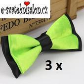 SKLADEM - 3x zelený motýlek,