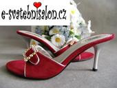SKLADEM - červené pantofle, 37
