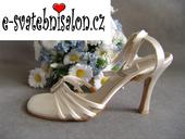 SKLADEM - ivory saténové sandálky, 40