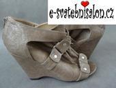 SKLADEM - šedé boty na klínku, 38
