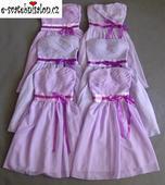 SKLADEM - lilla šaty, uni velikost - k zapůjčení, XS