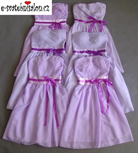 SKLADEM - lilla šaty, uni velikost - k zapůjčení - Obrázek č. 1