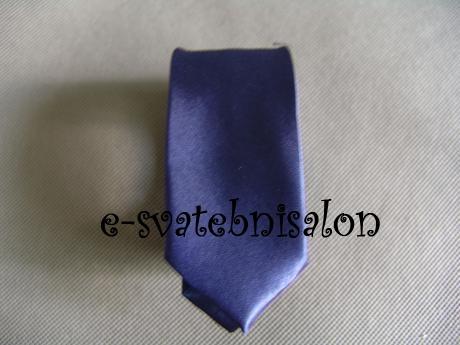 SKLADEM - modrá pánská kravata - slim - Obrázek č. 1
