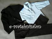 SKLADEM - modrý oblek, 3 měsíce až 3 roky, 86