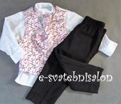 SKLADEM - růžový oblek k zapůjčení, 2 roky, 92