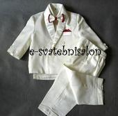 SKLADEM - ivory oblek k zapůjčení, 80