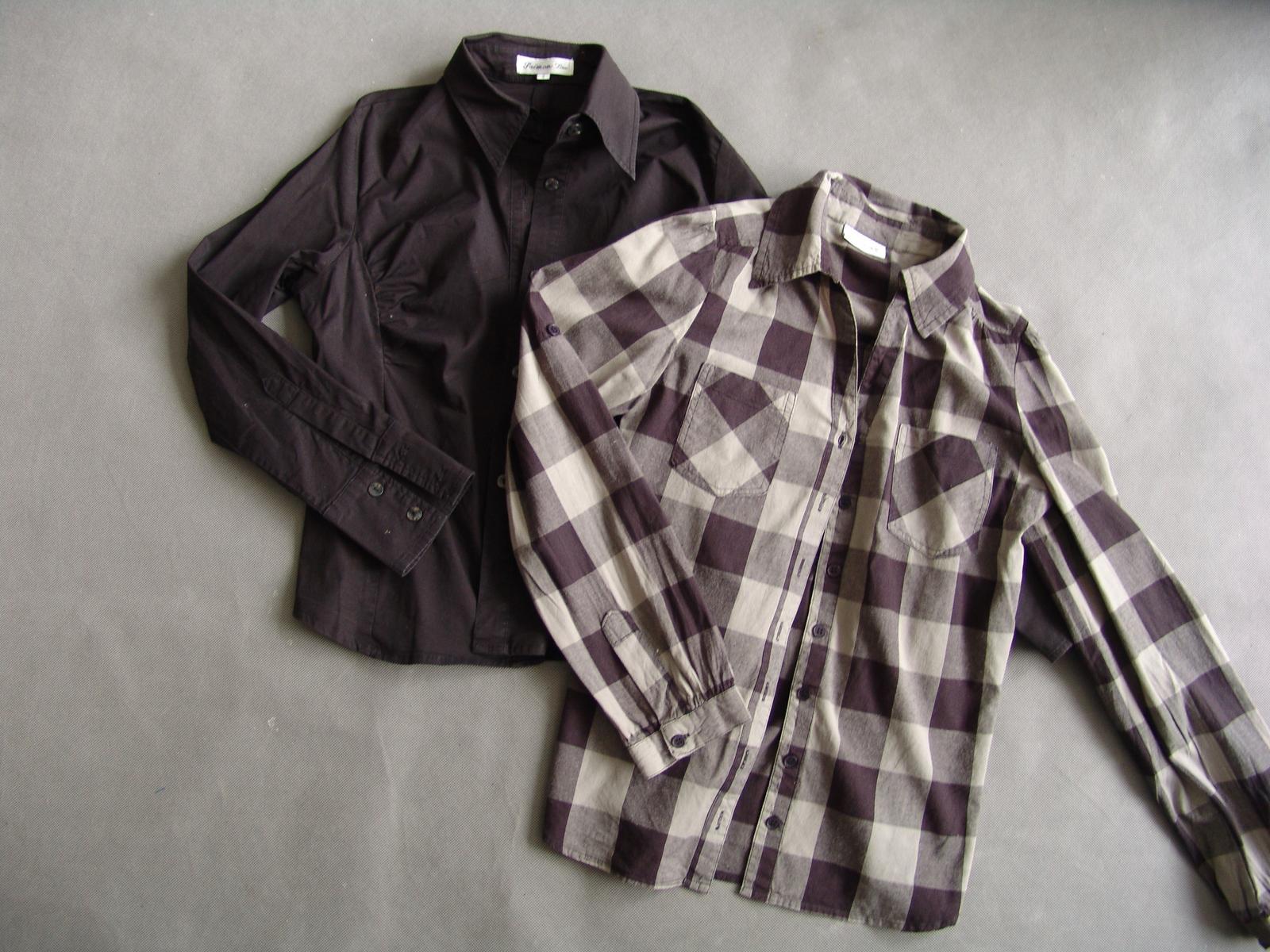 Dvě košile s dlouhým rukávem - Obrázek č. 1