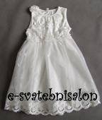 SKLADEM - ivory šaty pro družičky, 134