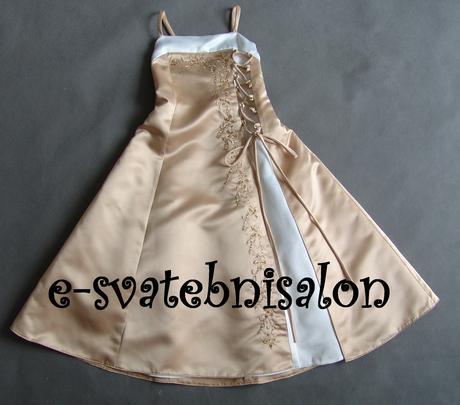 SKLADEM - champagne šaty 3-7 let - Obrázek č. 1