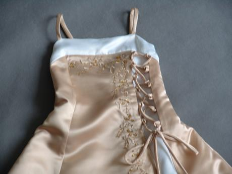 SKLADEM - champagne šaty 3-7 let - Obrázek č. 2
