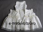 SKLADEM - ivory šaty, 3-6 let, 116