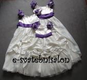 SKLADEM - ivory šaty, 6-12 let, 104