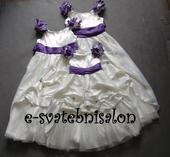 SKLADEM - ivory šaty, 6-12 let, 128