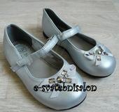 SKLADEM - stříbrné dětské boty, 26