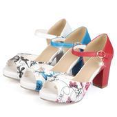 Bílé květované letní sandálky, 34-42, 36