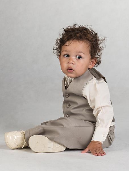 SKLADEM - k zapůjčení béžový oblek 3měsíce - 3 rok - Obrázek č. 3
