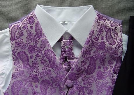 SKLADEM - k zapůjčení fialový oblek 12-18m, 9 a 12 - Obrázek č. 4