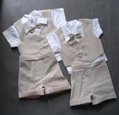 SKLADEM - letní oblek k zapůjčení, 1-2 a 2-3 roky, 74